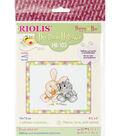 RIOLIS 6.25\u0027\u0027x5\u0027\u0027 Counted Cross Stitch Kit-Peace, Love & Carrot