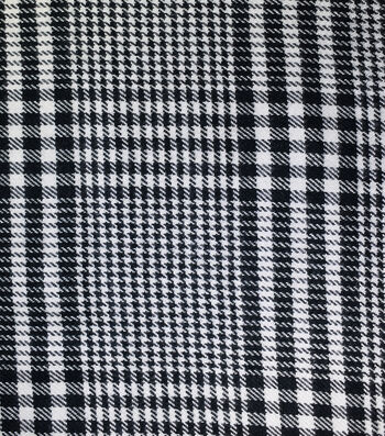 "Sportswear Acrylic Fabric 52""-Black & White Houndstooth"