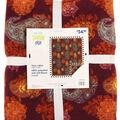 No Sew Fleece Throw-Autumn Paisley