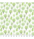 Nursery Flannel Fabric-Deer Trees