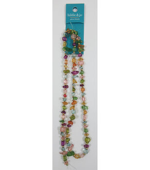 hildie & jo 21'' Nugget Glass Strung Beads-Mix Colors