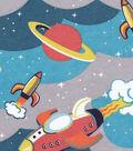 Snuggle Flannel Fabric -Retro Spaceships