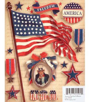 Military Grand Adhesions Embellishments-American Flag
