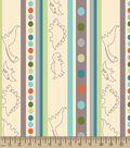 Dino Stripes Print Fabric