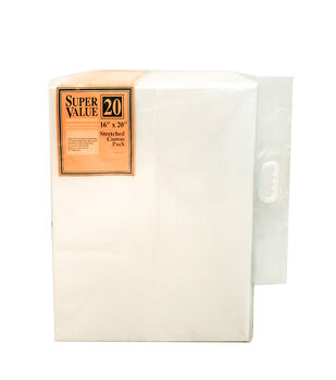 Stretched Canvas Super Value Pack 16''x20''