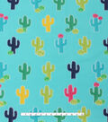 Blizzard Fleece Fabric -Blooming Cactus