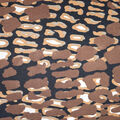 Fast Fashion Knit Fabric-Brown Abstract Diamond