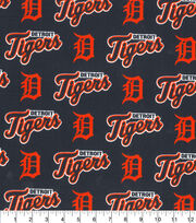 Detroit Tigers Cotton Fabric -All Over, , hi-res