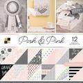DCWV Pack of 12 12\u0027\u0027x12\u0027\u0027 Premium Printed Cardstock Stack-Posh & Pink