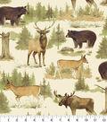 Snuggle Flannel Fabric 42\u0027\u0027-Animals In Nature