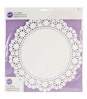 Wilton Doilies Grease Proof White 8'', , hi-res