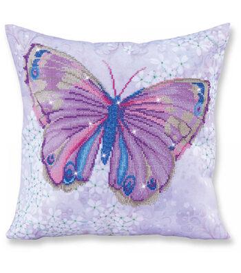 Diamond Dotz Decorative Pillow Kit-Papillon Mauve