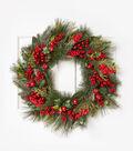 Blooming Holiday 26\u0027\u0027 Mixed Berry Wreath