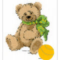 RIOLIS Happy Bee 5\u0027\u0027x6.25\u0027\u0027 Counted Cross Stitch Kit-Little Bear