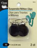 Suspender Mitten Clips 2/Pkg-Black