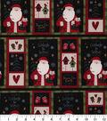 Christmas Cotton Fabric 43\u0022-Stitched Santa Patch