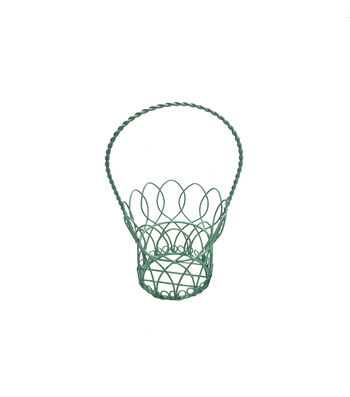 Easter 9'' Wire Basket-Green