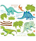 Wall Pops Dinosaur Expedition Wall Art Decal Kit, 42 Piece Set