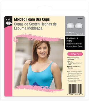Dritz Molded Foam Bra Cups-Fits B/C Cup