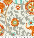 P/K Lifestyles Outdoor Print Fabric 54\u0027\u0027-Menagerie Cayenne