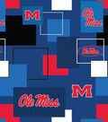 University of Mississippi Cotton Fabric -Modern Block