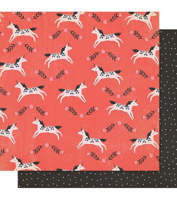 """Maggie Holmes Willow Lane Double-Sided Cardstock 12""""X12""""-Frolic"""
