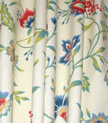 Waverly Upholstery Fabric 54\u0022-Carolina Crewel Bluebell