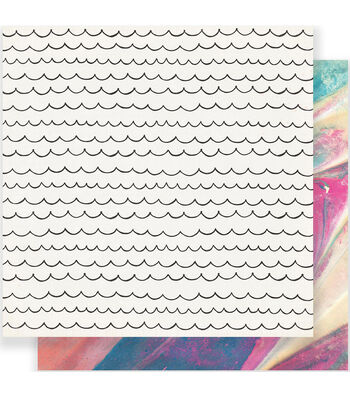 """Maggie Holmes Carousel Double-Sided Cardstock 12""""X12""""-Cotton Candy"""