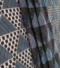 Lace Knit Fabric 57\u0022-Blue & Black Triangle