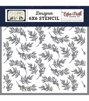 "Echo Park Stencil 6""X6""-Olive Branch"