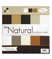 """DCWV 12""""x12"""" Premium Cardstock Stack Natural, , hi-res"""