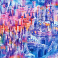 Novelty Cotton Fabric-Picture This Castle