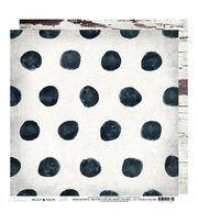Heidi Swapp Wolf Pack Double Sided Cardstock-Polka Dots & Wood, , hi-res