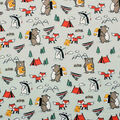 Super Snuggle Flannel Fabric-Camping Animals
