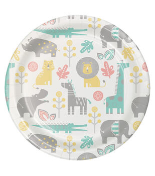 8ct Large Paper Plate-Neutral Baby