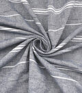 Linen & Linen Look Fabric -Stripes on Gray