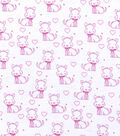 Nursery Flannel Fabric -Sweet Pink Puppies