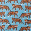 Blizzard Fleece Fabric-Walking Tiger