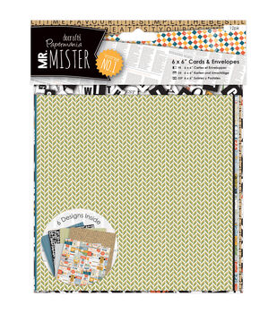 Papermania Mr. Mister 12ct 6''x6'' Cards With Envelopes