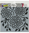 The Crafter\u0027s Workshop Julie Fei-Fan Balze Stencil-Round Flowers