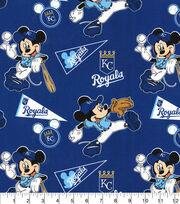 Kansas City Royals Cotton Fabric-Mickey Mouse, , hi-res