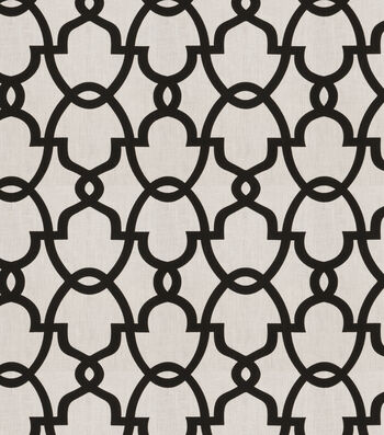 "Eaton Square Lightweight Decor Fabric 54""-Howard/Black White"