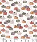 Harvest Cotton Fabric-Watercolor Pumpkins