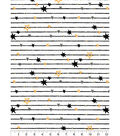 Nursery Cotton Fabric-Black Lines