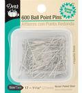 Dritz 1.06\u0022 Ball Point Pins 600pcs Size 17