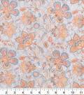 Premium Quilt Cotton Fabric 42\u0027\u0027-Coral Floral