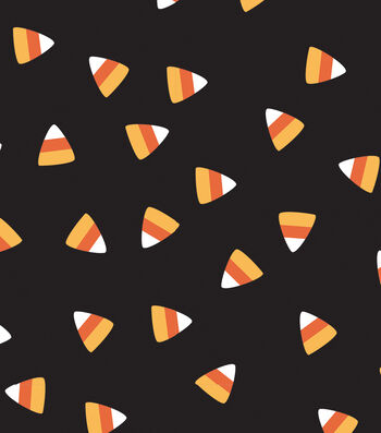 """Maker's Halloween 60"""" Round Tablecloth-Candy Corn"""