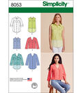 Simplicity Misses\u0027 Button Front Shirt In Various Styles-14-16-18-20-22