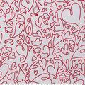 Valentine\u0027s Day Sweetheart Print Fabric -Whimsical Hearts
