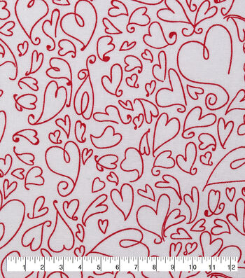 Valentine's Day Sweetheart Print Fabric 43''-Whimsical Hearts